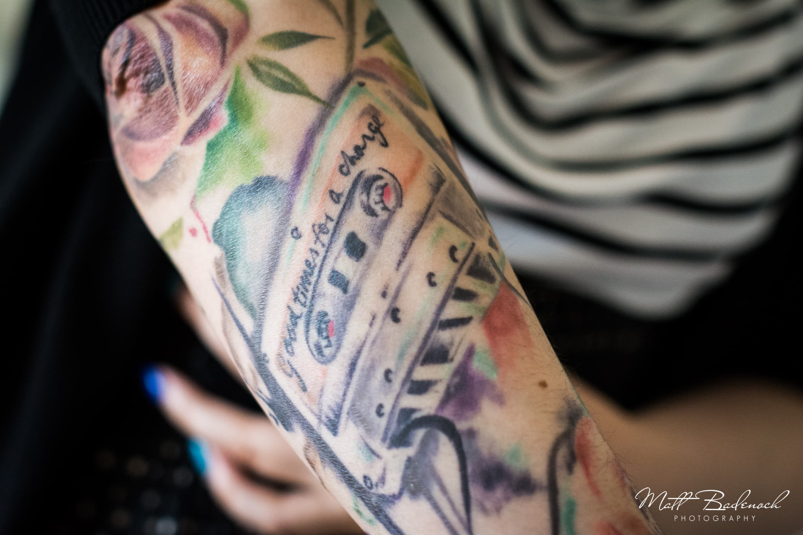 Tattoo, French Made Alternative wedding cakes London | Matt Badenoch Photography