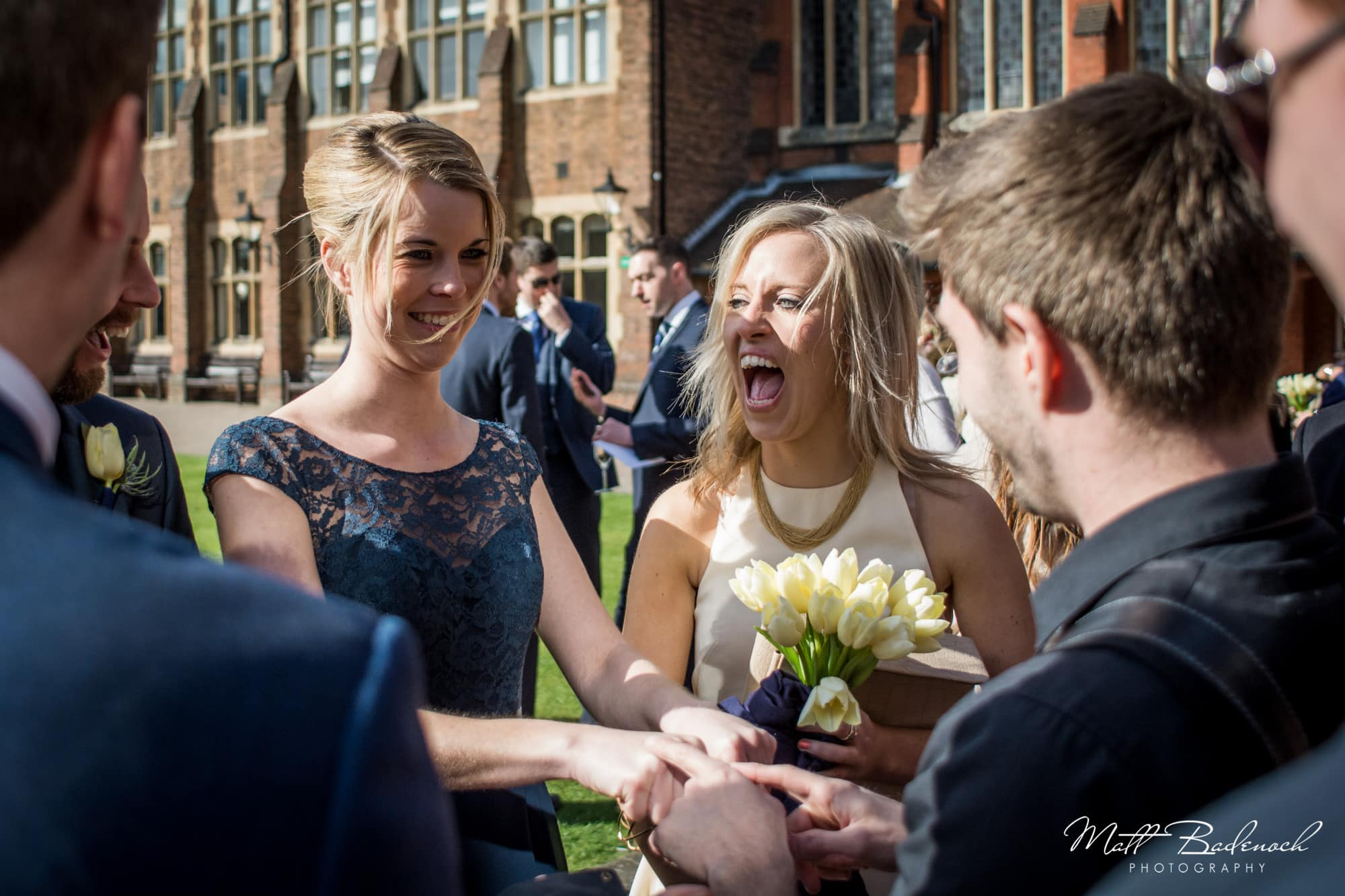 laughing guests, Neb Magic wedding magician London | Matt Badenoch Photography