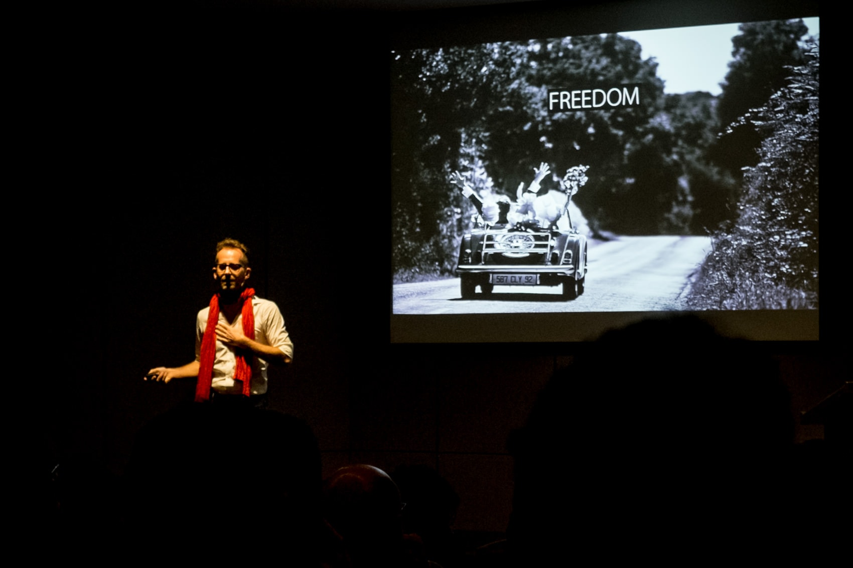 Franck Boutonnet speaking in Porto at the 2016 Fearless Conference for wedding photographers
